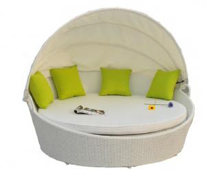 Outdoor Rattan round bed for garden
