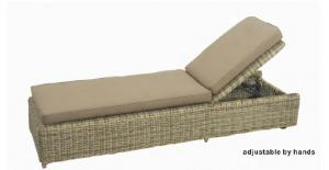 Rattan bed for garden and beach