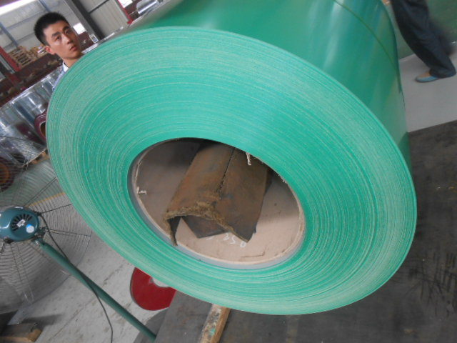 PRE-PAINTED GALVANIZED STEEL COIL RED AND GREEN COLOR