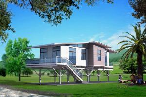 Light Prefabricated Steel Structure Villas 002