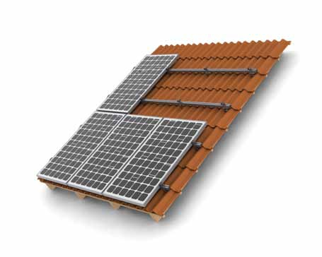 solar mounting Tile-on Roof System