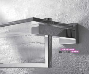 Brass Bathroom Accessories- Glass Shelf KB01-004