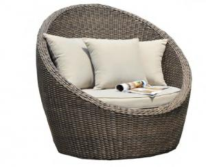 Popular Outdoor Rattan round bed for garden