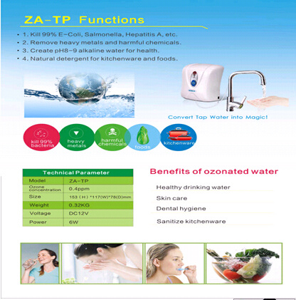 Small   ozone  tap  water filter
