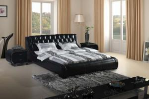 Modern classic leather cheap modern bedroom setsbed King size