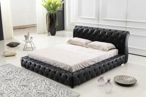 Modern classic leather bed Queen size PU