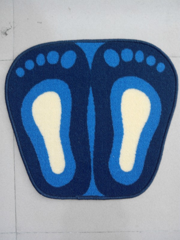 Feet Shape Floor Mat For Decoration