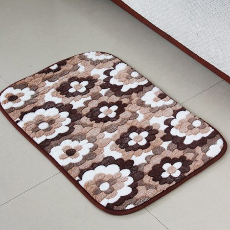Coral Fleece Pattern bath mat