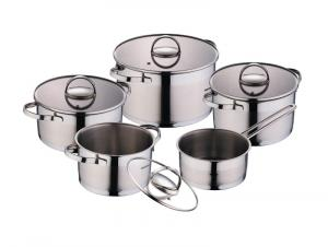 Straight Bottom Stainless Steel Cookware Set