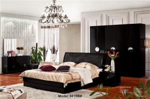 Modern muslim classic leather bed Queen size new style