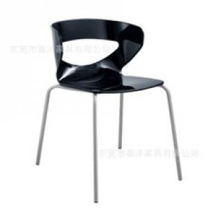 hot sale colorful new design cheap plastic chair with chrome legs