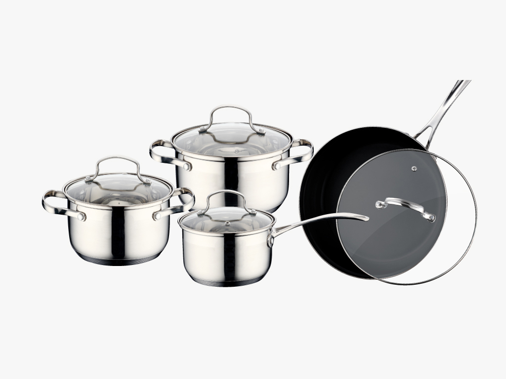 12 Pcs Stainless Steel Cookware Sets