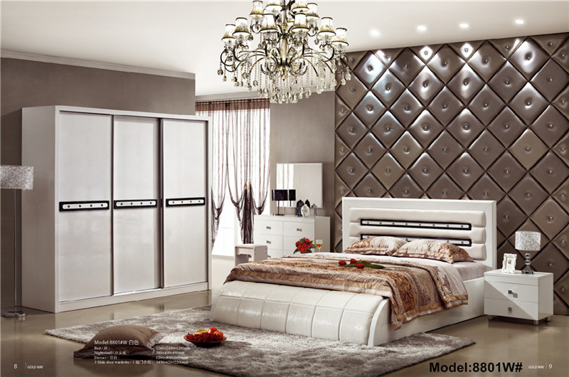 Modern muslim classic leather bed King size