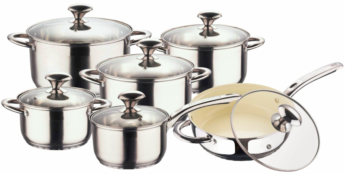 5 Steps Bottom Stainless Steel Cookware Sets