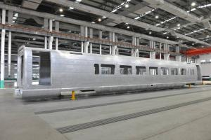 Aluminium carriage body of High-speed railway made of extrusion profile