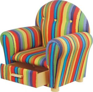 Child's Fabric Chair with Drawer