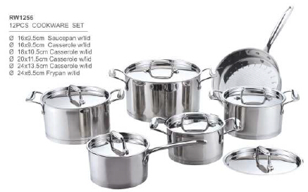 304 201 stainless steel cookware10