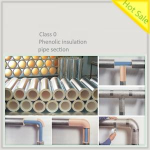 Phenolic foam insulation pipe section