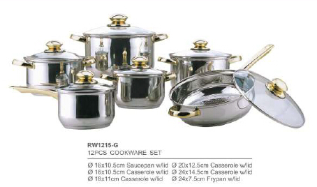 304 201 stainless steel cookware3