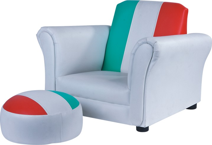 Child's Italian Flag Chair with Ottoman