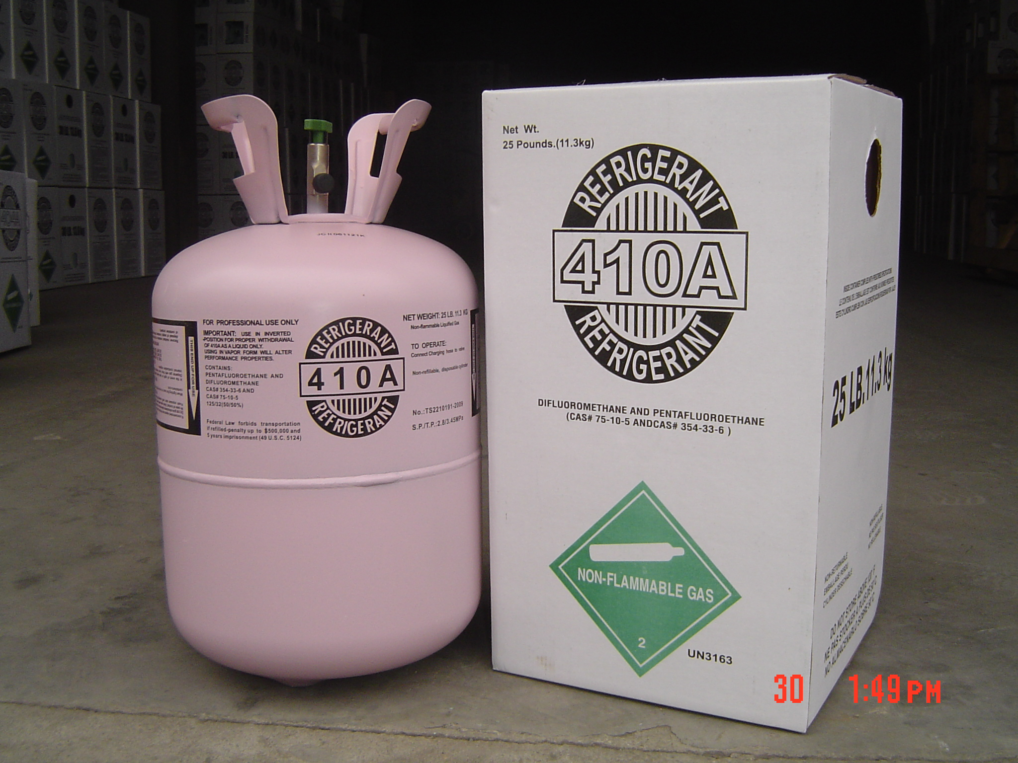 R410a Gas in Disposable Cyl