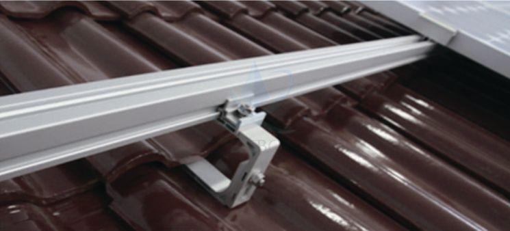 glazed tile roof support system