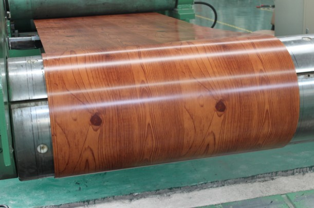 Pre-painted Galvanized Steel Coil-EN10169-WOODEN2