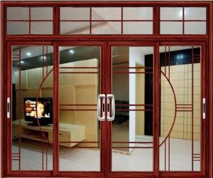Aluminum alloy lowes sliding glass patio doors