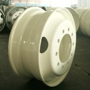 good quality white spoke truck steel wheel 24.5x8.25