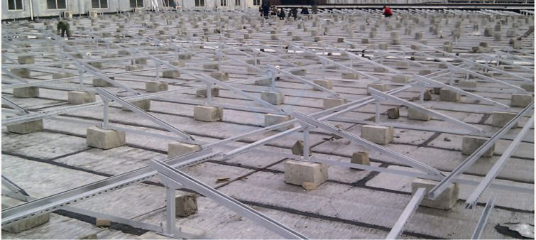 concreted roof support system