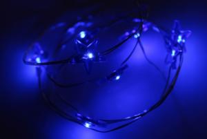 Copper Wire Blue Light String with Battery Box