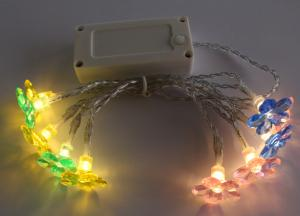 Battery Light String with Summer Flower
