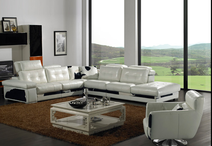 2014 Highest quality wholesale leather sofa made in china 3728