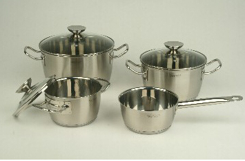 Stainless Steel cookware set 4