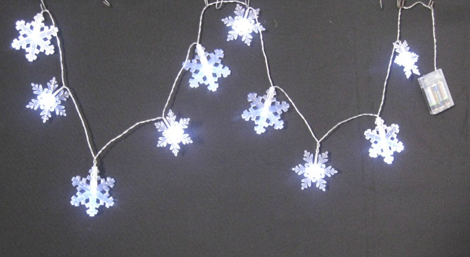10ct Snowflake String Light
