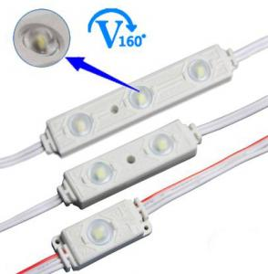 Favorites Compare 12V IP65 3 chips 5050 injection led module with different color case