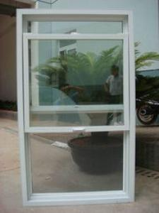 PVC Hung Window for Village with American and Europe Style