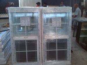 PVC Hung, Double Hung Window Factory with Double Glass