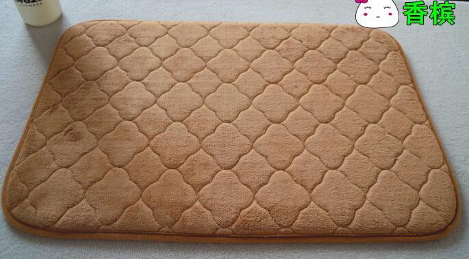 soft fleece door mat