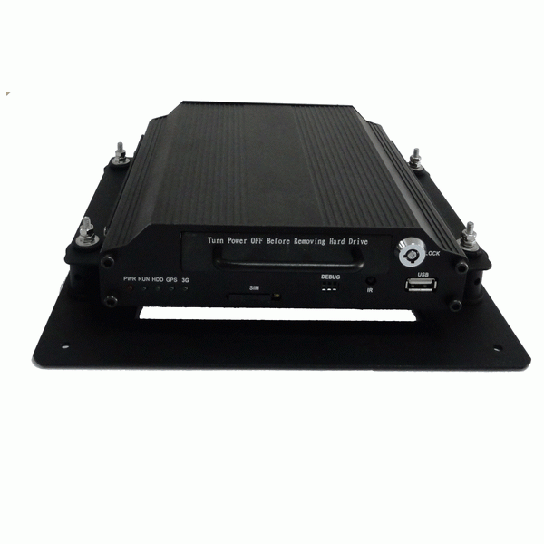 H.264 Embedded Linux System High-End Type HDD Mobile DVR 4CH CIF HD1 D1Recording with 3G,GPS Functions