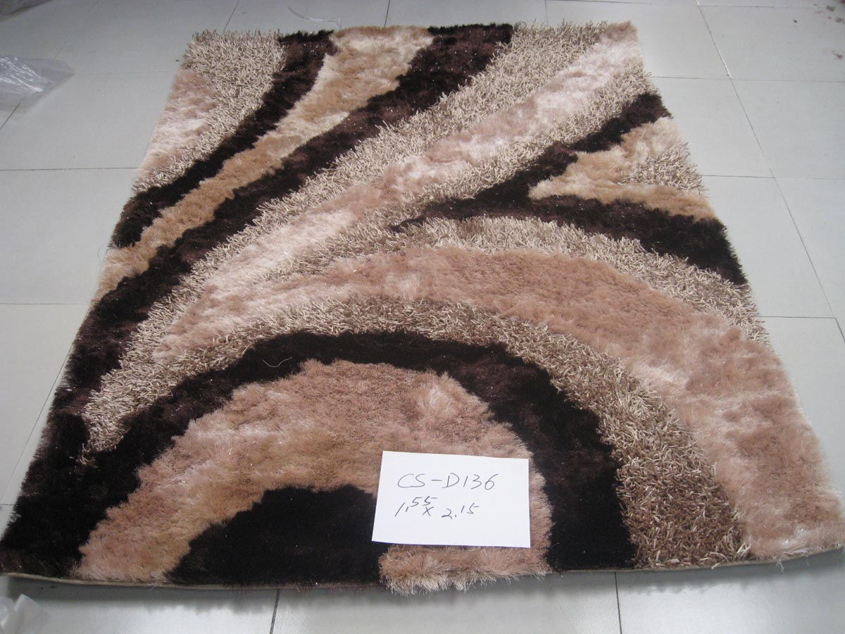 Modern Black And Brown Polyester Floor Carpet