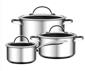 Wide edge Stainless Steel Cookware