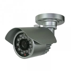 CCTV Camera IR Waterproof Fixed Camera with 23pcs IR Leds and  20M IR Range and 3 Axis Cable Built in Bracket