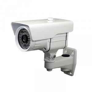 CCTV IR Waterproof Camera with 36pcs IR Leds and 30M IR Range, 3.6mm Lens and Cable Built in Bracket