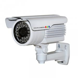 CCTV IR Waterproof Camera with 30pcs IR Leds and 25M IR Range, 3.6mm Lens and Cable Built in Bracket
