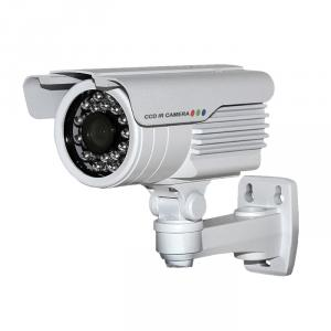 CCTV IR Waterproof Camera with 23pcs IR Leds and 20M IR Range, 3.6mm Lens and Cable Built in Bracket