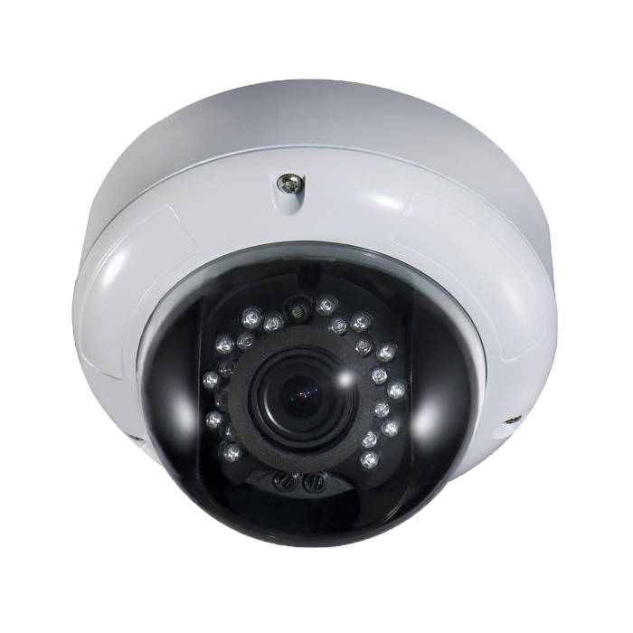 CCTV Camera Metal Dome Camera with 18pcs IR Leds and Built-in 3-Axis Bracket