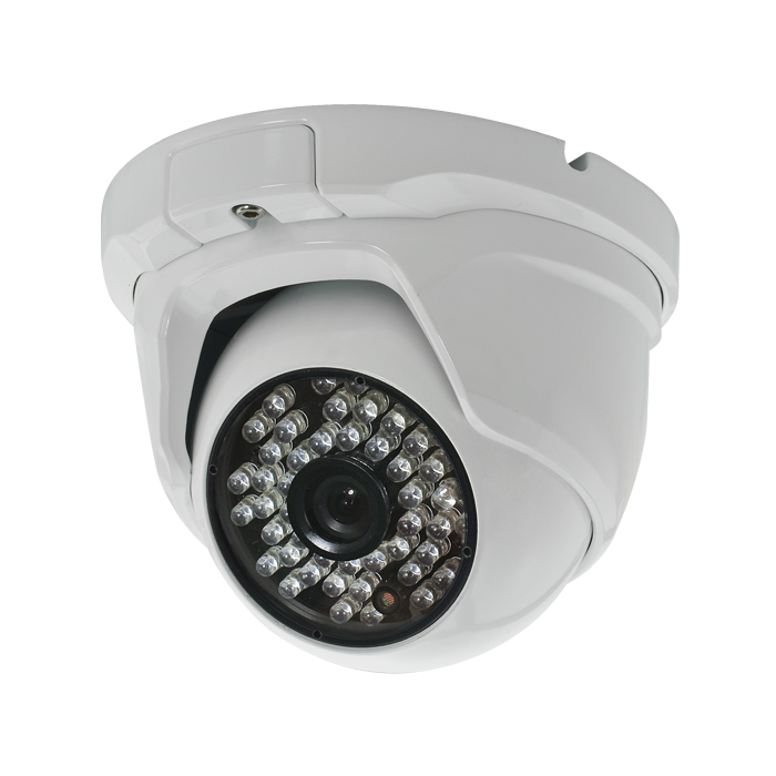 CCTV Camera Metal Dome Camera with 48pcs Leds and 6mm Lens