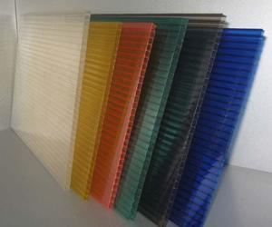 PC Twin-wall Rectangle Structure Polycarbonate Sheet