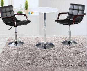 Modern Adjustable PU Leather Bar Stools